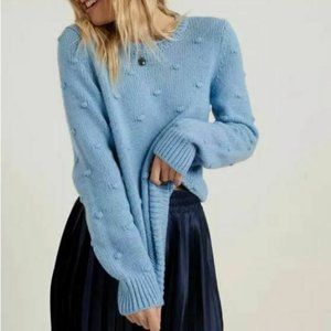Lucky Brand NEW Bobble Knit Crew Neck Sweater